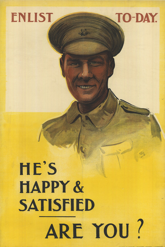 Portrait Illustration of a smiling British soldier in dress uniform.