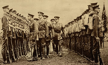 Kitchener's Army being inspected by King George