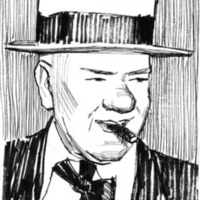 Portrait illustration of W.C. Fields.