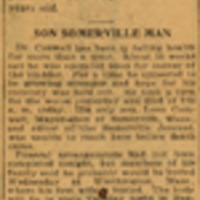 yellowed newspaper clipping reporting the death of Russell Conwell