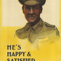 Portrait Illustration of a smiling British soldier in dress uniform.