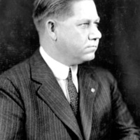 black and white portrait of an unidentified man
