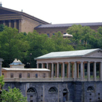The Fairmount Water Works in front of the Philadelphia Museum of Art