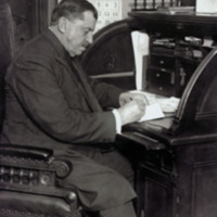 Russell Conwell, writing at his desk