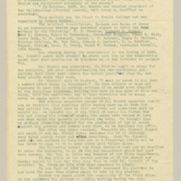 a long, yellowed, typewritten page from the Richard R. Riedel Typescript