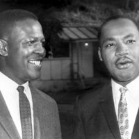 Dr. Charles V. Willie with Dr Martin Luther King Jr.